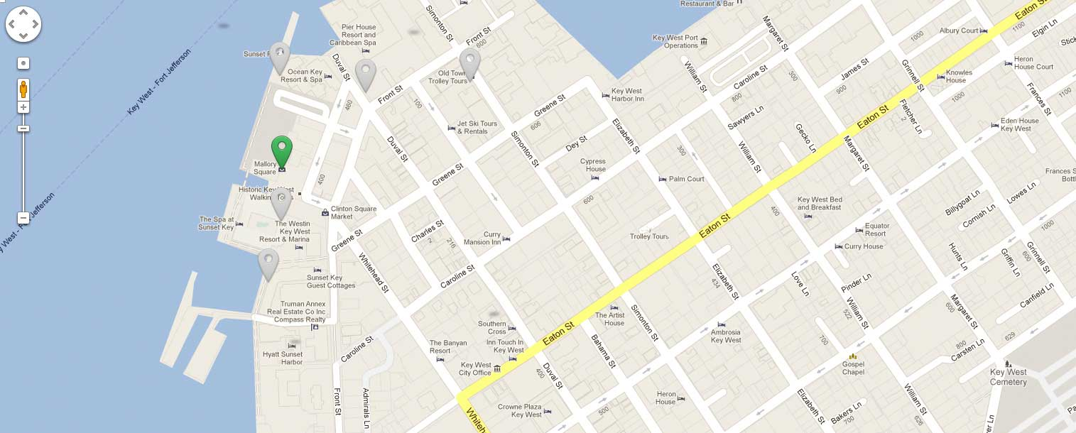 Image of Key West Street Map